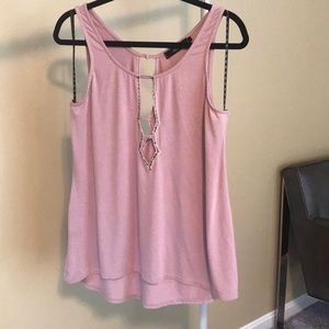 BKE Tops - Pretty pink top with cut outs
